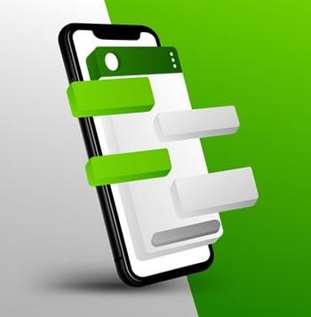Opção de conta comercial no WhatsApp